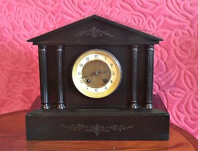 Antique Rare American 'A.L.M.' 8-Day Striking Marble Mantel Clock