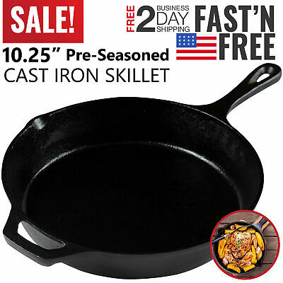 Cast Iron Skillet Oven Fry Pan Pot Cookware Pre-seasoned Cast Iron Skillet Black