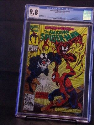Amazing Spider-Man # 362 Venom/Carnage App. CGC 9.8 White Pages