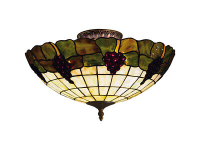 ELK Lighting 931-VA Grapevine Semi-Flush Mount Vintage Antique