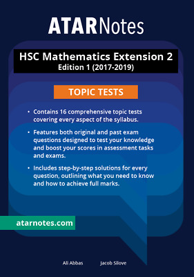 ATAR NOTES MATHS METHODS Units 3 & 4 Edition 1 Complete Course