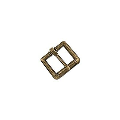 """Tandy Leather Roller Strap Buckle Antique Brass Nickel Free Plate 3/4"""" (19 Mm)"""