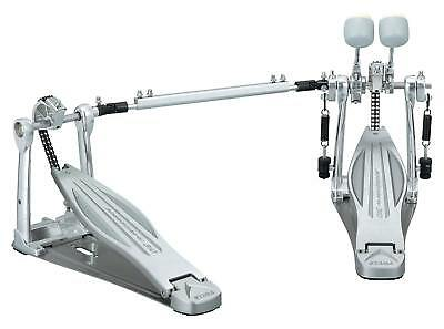 Tama HP310LW Speed Cobra Doppelpedal Double Bass Drum Pedal Fußmaschine silber
