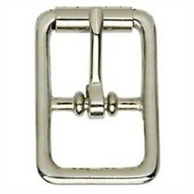 """Tandy Leather Center Bar Roller Buckle 1/2"""" (1.3 Cm) Nickel Plated 1509-10"""