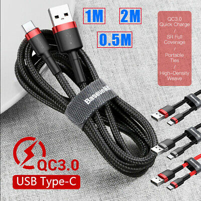 Baseus USB Type C Cable for Samsung S9 S8 Quick Charge QC3.0 USB C Fast Charging