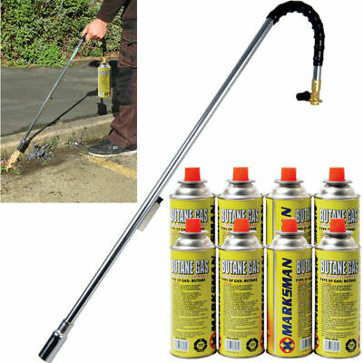 Weed Burner Killer Wand Butane Gas Blowtorch Garden Outdoor Weeds Moss Fungus Uk
