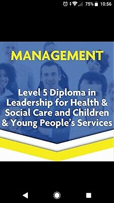 leadership and management diploma. 15 Complete signed off units for guidance