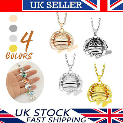 "18"" Expanding Photo Locket Necklace Silver Ball Angel Wing Pendant Key chain"
