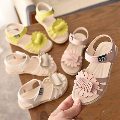 Baby Girls Summer Princess Sandals Toddler Kids Casual Flat Beach Holiday Shoes