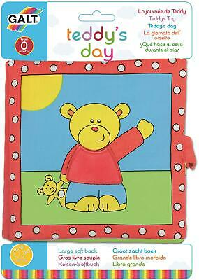 Galt LARGE SOFT BOOK - TEDDY'S DAY Baby Activity Toy BN