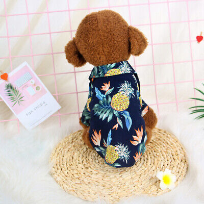 1-Pet Dog Hawaiian Shirt Beach Clothes Vest Floral Printed Top For S/M/L Dog New