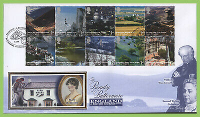 G.B. 2006 England Journey set on Benham First Day Cover, Buttermere