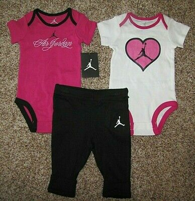 Air Jordan Set Girl Jumpman Baby Bodysuit Pants 6-9 Months