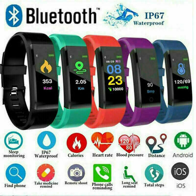 SMARTWATCH CARDIOFREQUENZIMETRO FITNESS TRACCER SPORT 115Plus ANDROID iOS X7L7