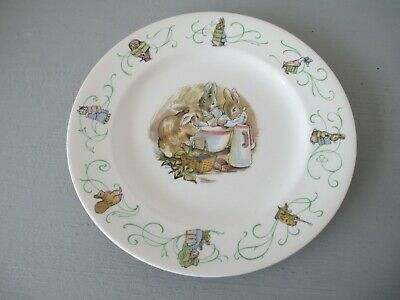 """Rare 1950s / 60's Wedgwood Beatrix Potter Peter Rabbit early design 8"""" plate"""