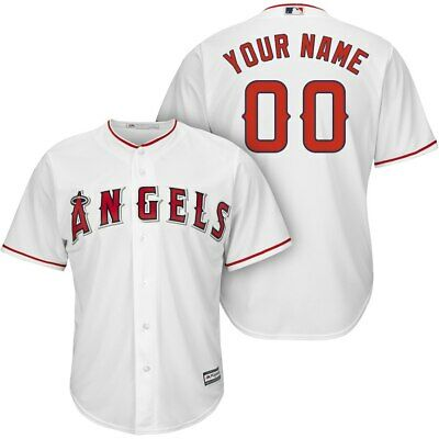 Customized Los Angeles Angels White MLB Cool Base Jersey (NWT)