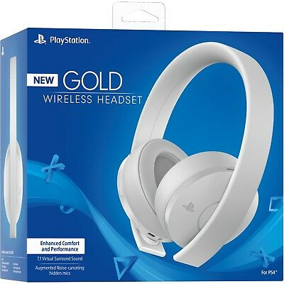 Cuffie Wireless Stereo 2.0 Gold Bianche  Sony   playstation 4   PS4