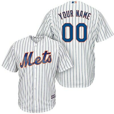 Customized New York Mets White | Blue MLB Cool Base Jersey (NWT)
