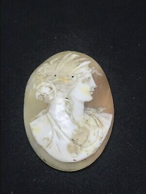 Antique Victorian Fine Carved Cameo For Your Brooch Or Pendant