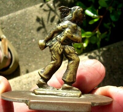 Early Late 1800s or 1900s Cast Brass Native American Figure