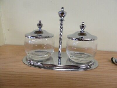 Silver Plated Condiment Container