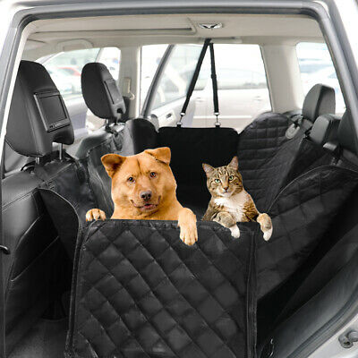 Waterproof Pet Dog Car Seat Cover Back Hammock Quilted Truck SUV w/ Mesh Window
