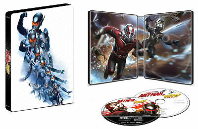 Brand New! Marvel Ant-Man And The Wasp Steelbook (4K UHD + Blu-Ray + Digital)