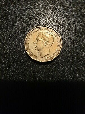 1937 Three Pence King George VI Collectable Coin 3d
