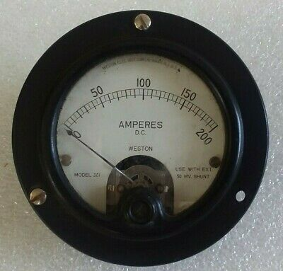 Weston DC Volts/Amperes Gauge Model 301