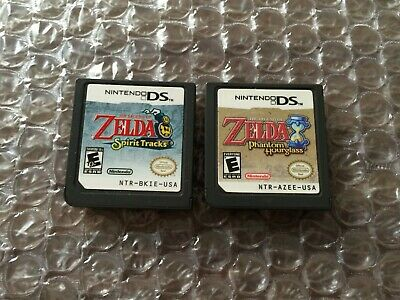 The Legend of Zelda Spirit Tracks + Phantom Hourglass (Nintendo DS) Authentic