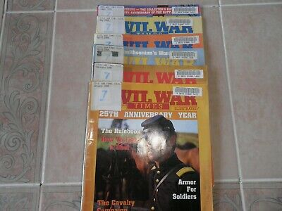 Lot of 6 CIVIL WAR TIMES Magazines (1988) in good condition.