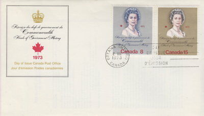 Canada #620-621 Queen Elizabeth Ii Royal Visit First Day Cover