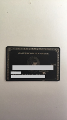 Real Metal American Express Centurion Card Expired {QUICK SELL FAST} {METAL}