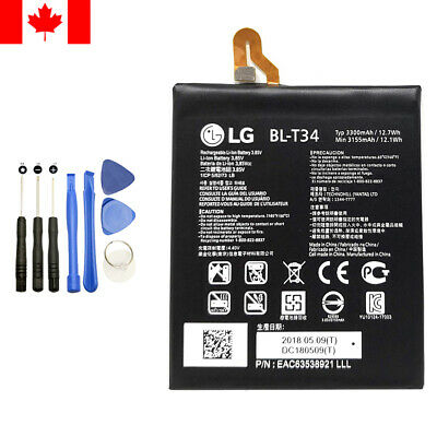 Battery Replacement for LG V30 BL-T34 3300mAh with repair tools H933 H932 H931