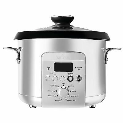 NEW All-Clad NK500 Electric Multi Rice Cooker 4 Qt Grain Stainless Steel 10 Cups