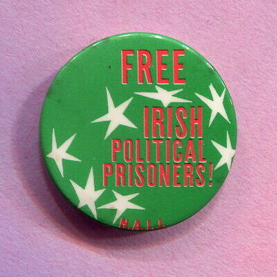 Circa 1970s  National Association for Irish Justice  Sinn Fein  IRA protest Pin