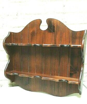 Federal Style Wood Shelf Curio Vintage Cup Display