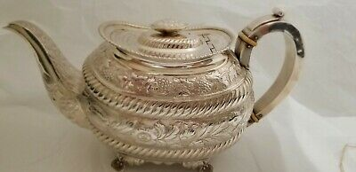 Magnificent Georgian Sterling Silver Teapot  1790'S