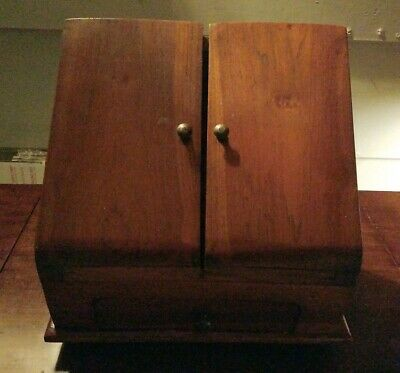 Antique Vintage Oak Letter Stationary Box