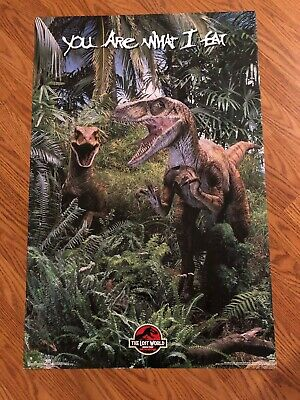 Vintage Jurassic Park The Lost World MOVIE POSTER Rare Original