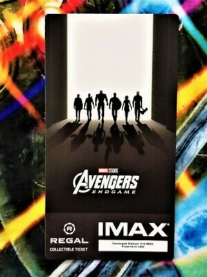 Avengers Endgame Week 2 IMAX Regal Collectible Ticket #43 Out Of 1,000 !