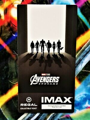 Avengers Endgame Week 2 IMAX Regal Collectible Ticket #16 Out Of 1,000 !