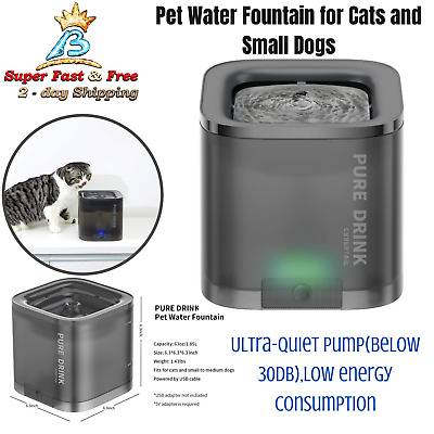 Multi Tier Automatic Free Falling Drinking Water Fountain 100oz For Pet Cat Dog