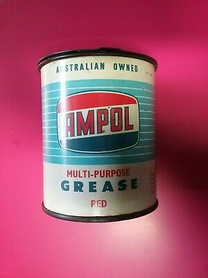 Ampol Multi-Purpose Red Grease 1Lb Tin Near Full