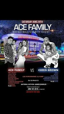 Ace Family Basketball Charity Event-- 3 Tickets!