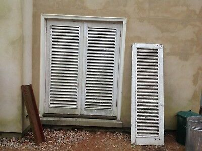Vintage French Style Shutter Old Reclaimed Louvered Door