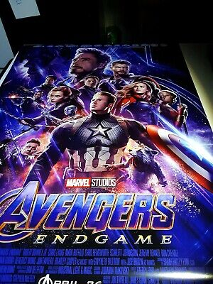 Avengers Endgame 27x40 Original Theater Double Sided Movie Poster Final NEW
