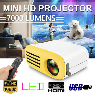 7000 Lumens Outdoor LED 1080P LED HD Video Projector Home Theater Cinema Video