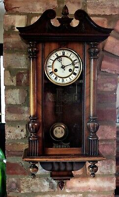 Antique German 'HAC' 8-Day Striking Wall Clock