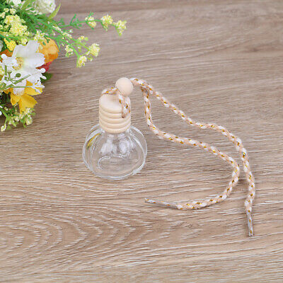1PC 14ml car hanging empty perfume glass bottle pendant auto home ornament.